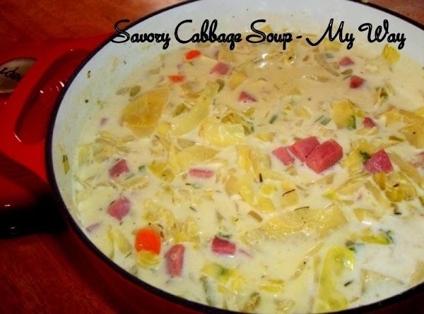 Savory Cabbage Soup - My Way Recipe