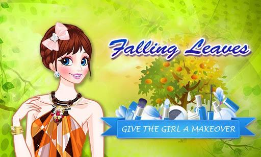 Falling Leaves: Girl Makeup