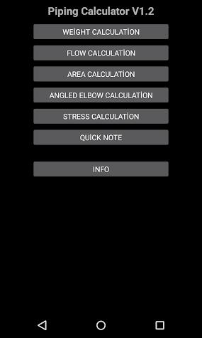 Piping Calculator pro Screenshot