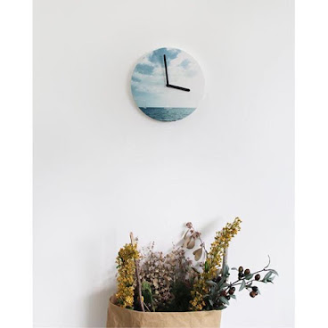 《Wall Clock from Korea - The Sea 韓國進口掛牆鐘 》