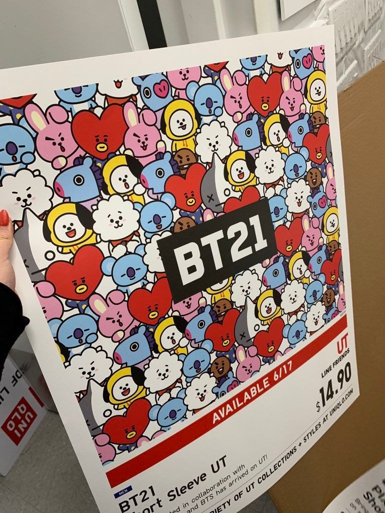 uniqlo bt21 poster
