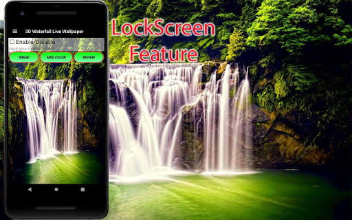 3D Waterfall Wallpaper - Screen Lock, Sensor, Auto ss3