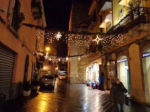 Photo: Christmas lights at last - on the feast of Santa Lucia