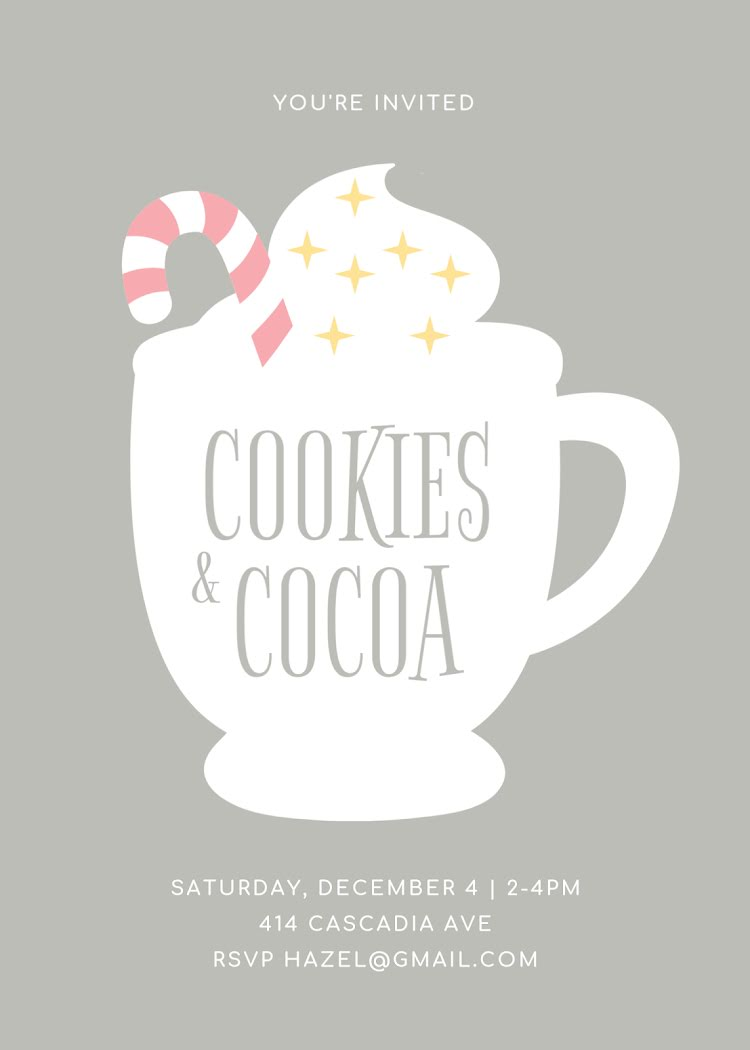 Cookies & Cocoa - Christmas Card Template