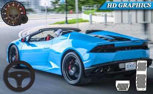 voiture course conduite lamborghini gratuit 3D  captures d'écran 2