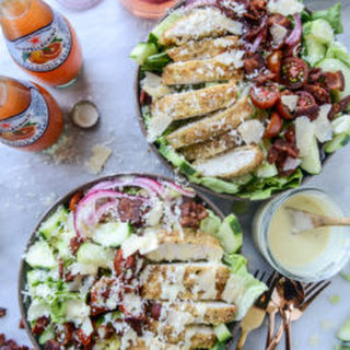 Parmesan Crusted Chicken Salads.