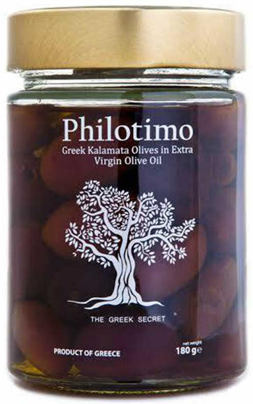 Kärnfria kalamataoliver i extra virgin olivolja – Philotimo