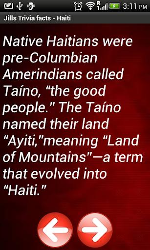 Jill's Trivia facts: Haiti