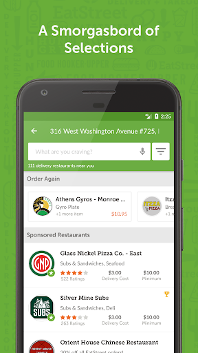 EatStreet Food Delivery App screenshot
