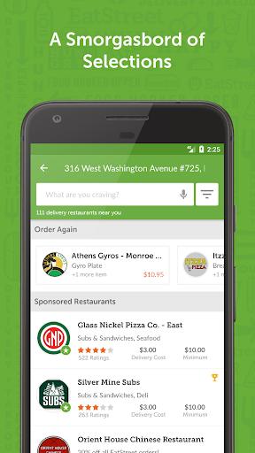 EatStreet Food Delivery App Screenshot