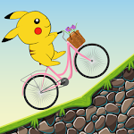 Pikacu Go Biking Icon