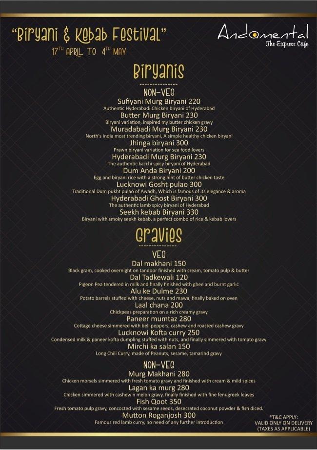 AndaMental - The Express Takeaway menu 4