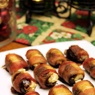 Goat Cheese Stuffed Bacon Wrapped Dates.