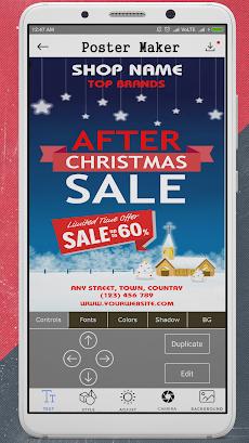 poster maker flyer design banner maker ad maker androidアプリ