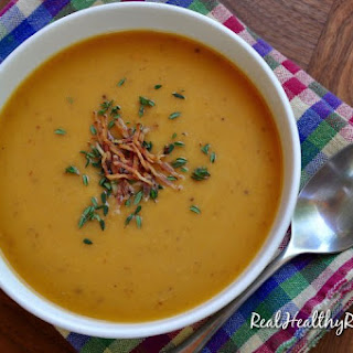 Creamy Sweet Potato and Leek Soup