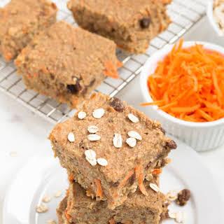 Carrot Cake Oatmeal Bars.