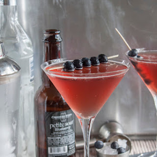 blueberry Sour Vodka Beertini.