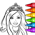 Princess Glitter Coloring Book and Girl Games icon