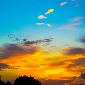 Morning Drive by James Newberry - Landscapes Cloud Formations ( clouds, sky, colorful, bright, weather, sunrise, morning )