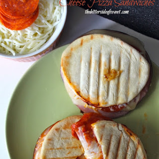Pepperoni, Ham and Cheese Pizza Sandwiches + a giveaway!!