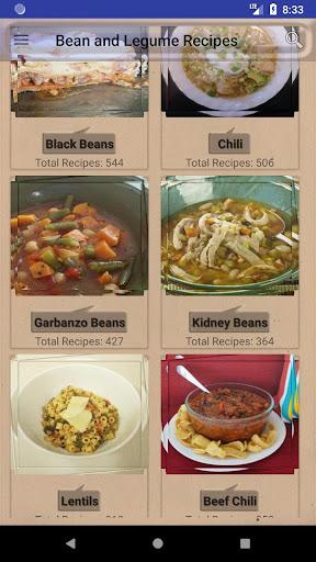 Bean and Legume Recipes: Casseroles Soups & Salads 3.0 screenshots 1