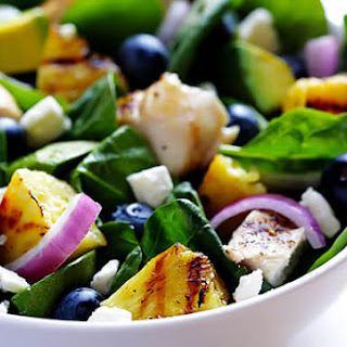 Grilled Pineapple, Chicken and Avocado Salad Recipe