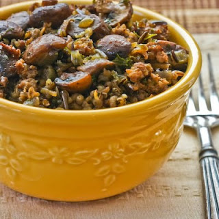 Wild Rice with Sausage and Mushrooms.