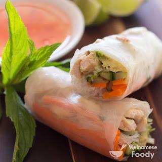 Vietnamese Rice Paper Spring Rolls.