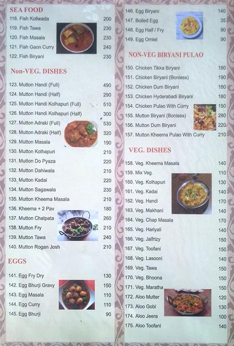 Sunshine Family Restaurant menu 5