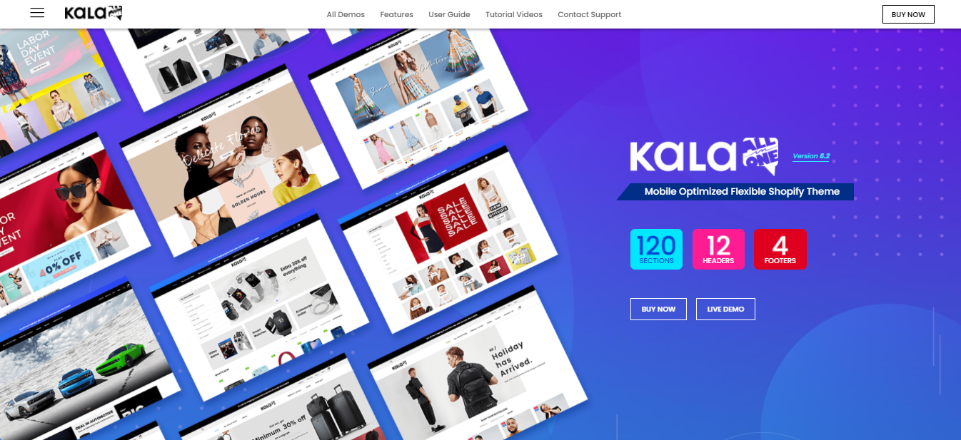 Kala - Best free shopify theme for dropshipping