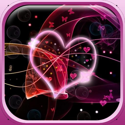 Neon Hearts Live Wallpaper 個人化 App LOGO-APP開箱王