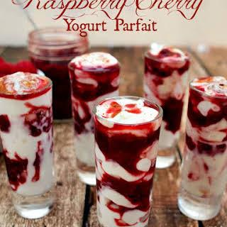 Raspberry-Cherry Yogurt Parfait.