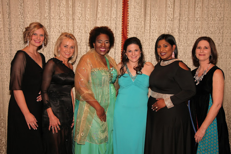 The winners of the BWA Investec Regional Business Achievers Awards from left are Linda van Oudheusden, Noleen Acton, Buyiswa Hlangothi, Melissa Palmer, Roseann Shadrach and Samantha Streak.