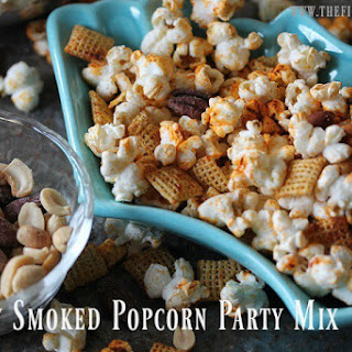 Skinny Smoked Popcorn Party Mix
