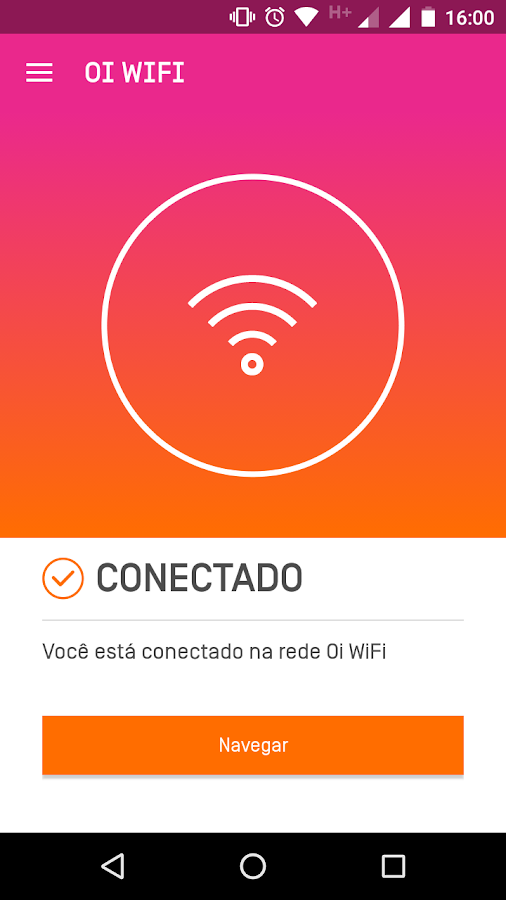Oi WiFi: captura de tela