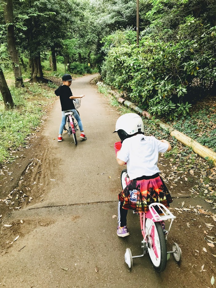 自転車二人で