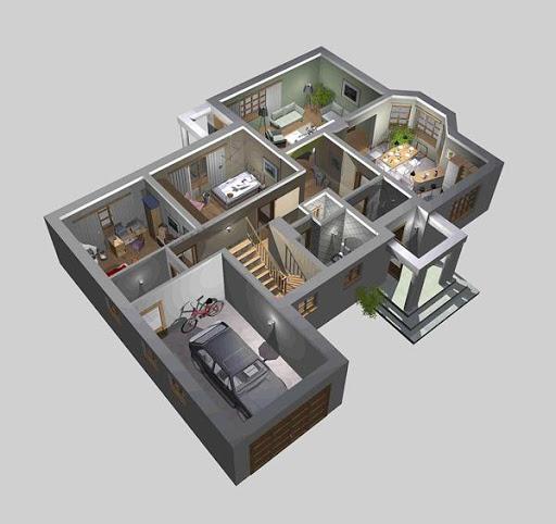 APS 047 - Rzut parteru 3D