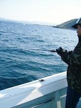 "Photo: 前回、10.7kgのオオマサを釣った""ロボコップ大村さん""にも!"