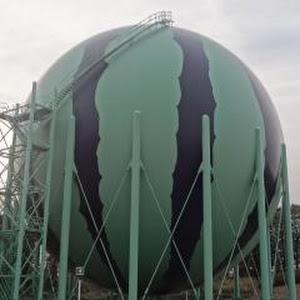 千葉ガス 富里供給所 ガスタンク