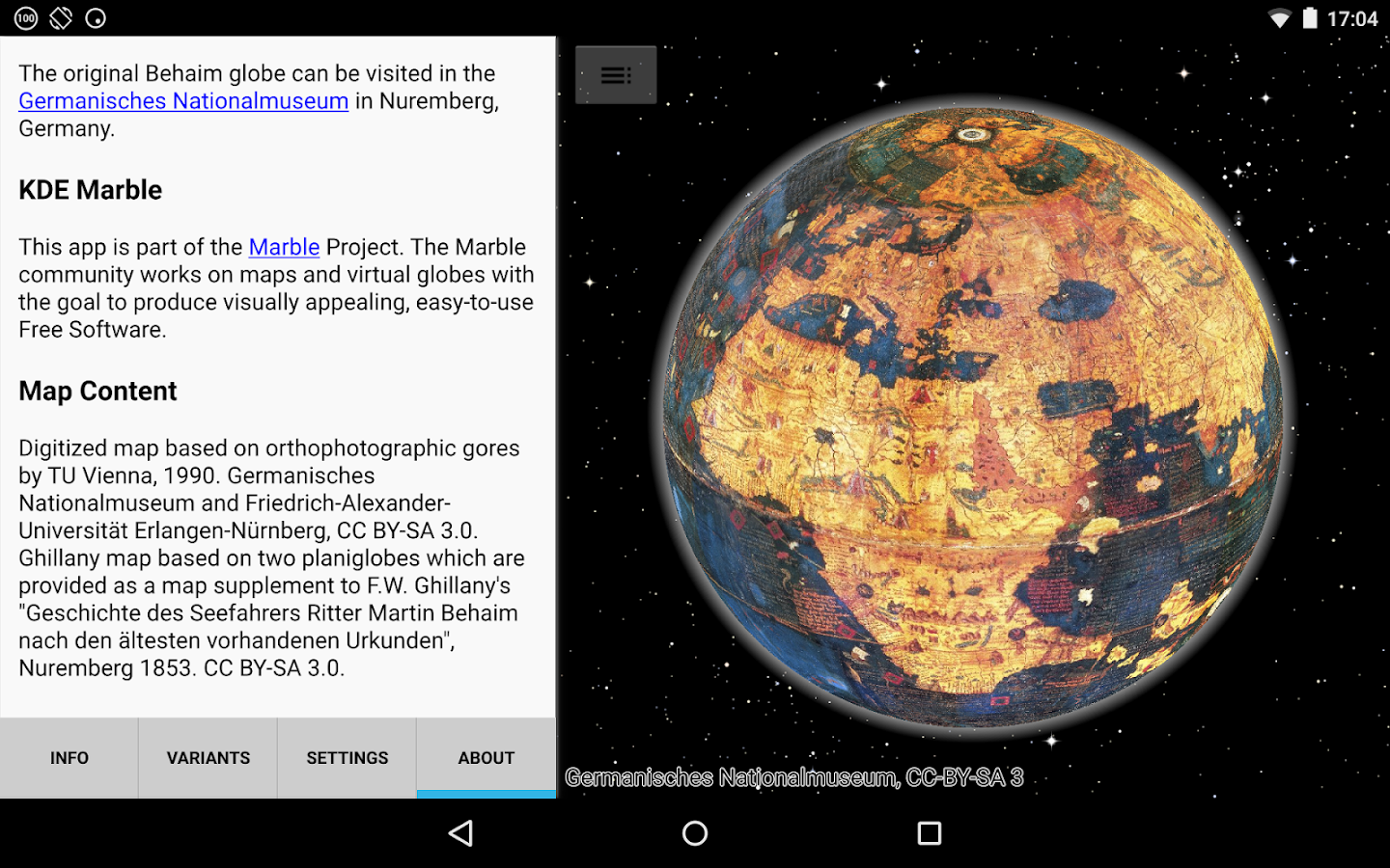 Behaim Globe- screenshot
