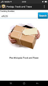 Pos Malaysia Track and Trace screenshot 1
