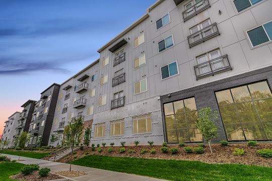 Exterior apartment building view