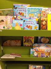 Photo: There was a small, but nice selection of seasonal books.  Books always make a great Easter basket addition!