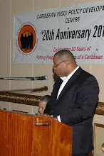 Photo: The Hon. Christopher Sinckler, Minister of Finance & Economic Affairs (Barbados) presenting Feature Remarks at Dinner