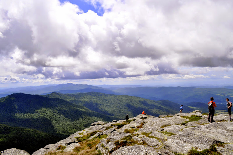 Photo: Hikers at the top of Camels Hump, Camel's Hump State Park