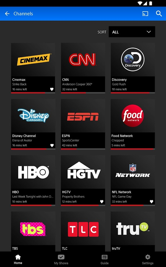 PlayStation Vue Mobile- screenshot