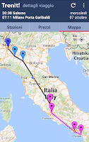 Screenshot of Trenit: find trains in Italy