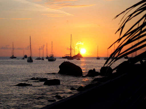 sunset-st-barts.jpg - A golden tropical sunset on St. Barts.