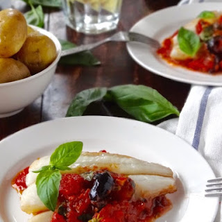 Baked Fish With Olives & An Easy Tomato Sauce
