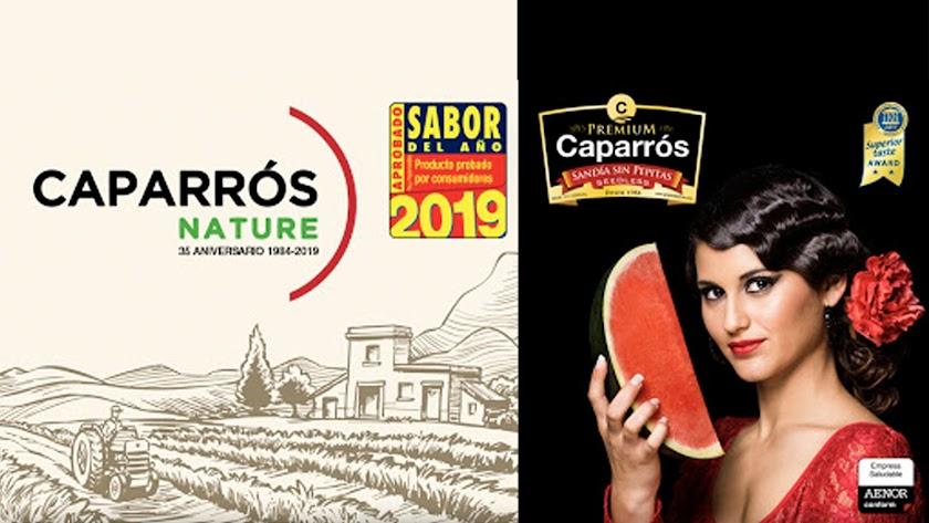 Tarjeta que Caparrós Nature ha enviado a clientes y amigos.